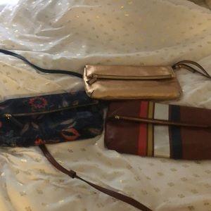 3 clutch purses each used 1 time like NEW